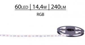TAŚMA ECONOMIC 24V SMD5050 60 LED RGB